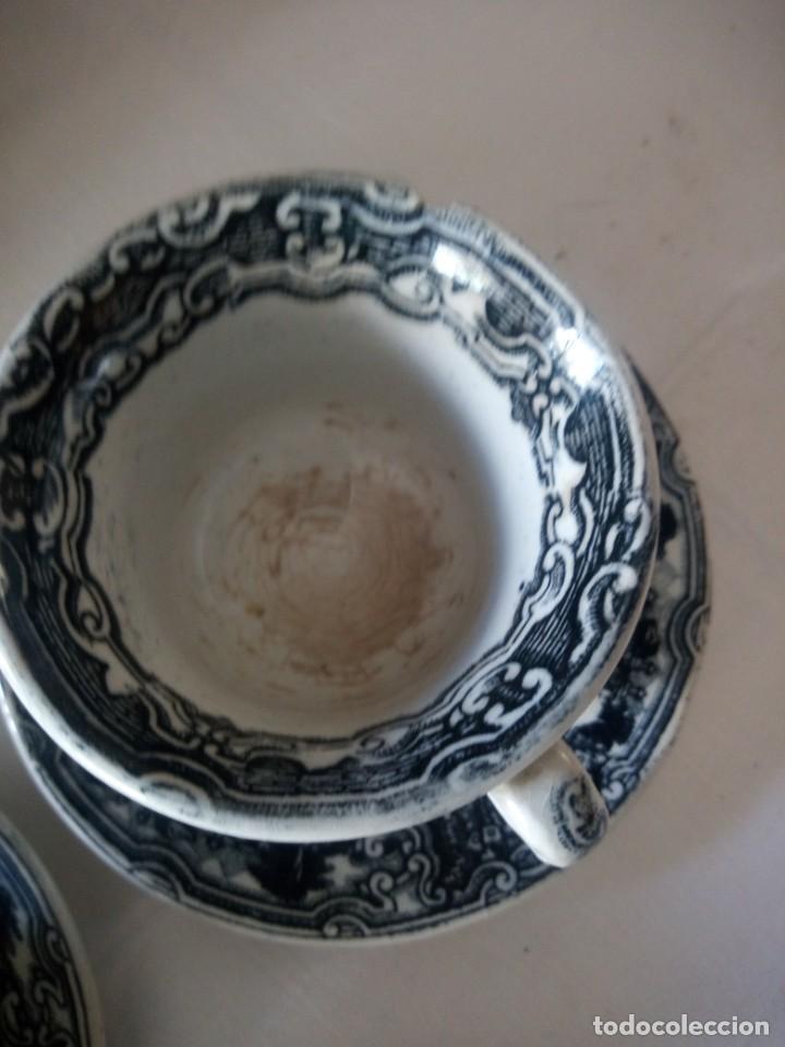 Antigüedades: ANTIGUO JUEGO DE CAFÉ Y JARRA DE LA CARTUJA PIKMAN SEVILLA - Foto 7 - 216835087