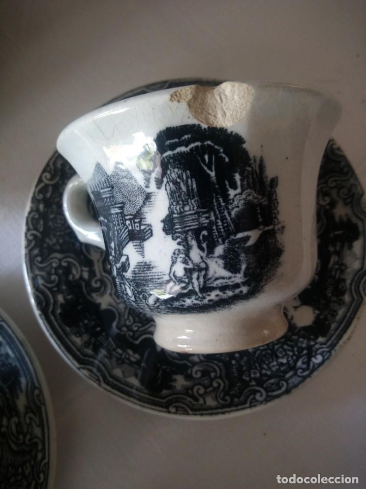 Antigüedades: ANTIGUO JUEGO DE CAFÉ Y JARRA DE LA CARTUJA PIKMAN SEVILLA - Foto 10 - 216835087