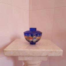 Antigüedades: PRECIOSO BOTECITO DE CRISTAL PINTADO CON MOTIVO FLORAL. Lote 216870436