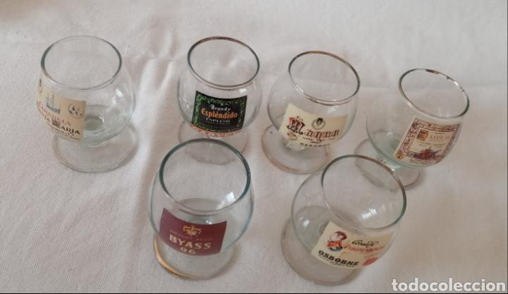6 COPAS DE COÑAC SERIGRAFIADAS (Antigüedades - Hogar y Decoración - Copas Antiguas)