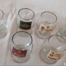 Antigüedades: 6 COPAS DE COÑAC SERIGRAFIADAS. Lote 216877598