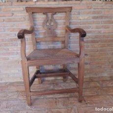 Antigüedades: SILLON ANTIGUO MUY BONITO DE MADERA DE MOREA. Lote 216878638