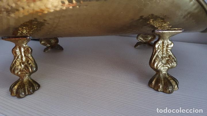 Antigüedades: LEÑERA DE BRONCE Y LATÓN - Foto 14 - 216894862