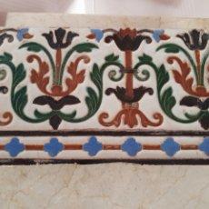 Antigüedades: BONITO Y ANTIGUO AZULEJO. Lote 216899730