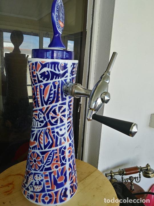 Antigüedades: Grifo porcelana Sargadelos cerveza Estrella Galicia - Foto 5 - 247721665