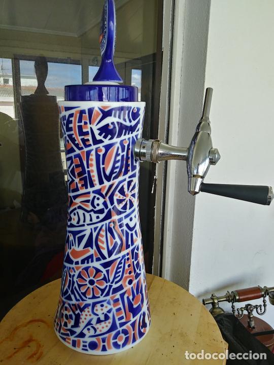 Antigüedades: Grifo porcelana Sargadelos cerveza Estrella Galicia - Foto 6 - 247721665