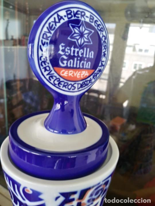 Antigüedades: Grifo porcelana Sargadelos cerveza Estrella Galicia - Foto 7 - 247721665