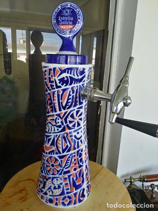 Antigüedades: Grifo porcelana Sargadelos cerveza Estrella Galicia - Foto 9 - 247721665