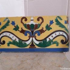 Antigüedades: BONITO Y ANTIGUO AZULEJO DE MENSAQUE RODRÍGUEZ TRIANA (SEVILLA). Lote 216900871