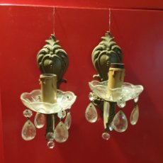 Antigüedades: LAMPARAS APLIQUE CORNUCOPIA ANTIGUA DE LUZ. Lote 216906895