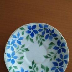 Antigüedades: PLATO TAZA CAFÉ PERVENCHE. Lote 216910872