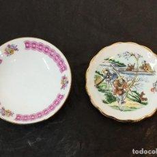 Antigüedades: 2 PLATITOS DE CERÁMICA CHINA. C21. Lote 216953405