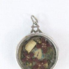 Antigüedades: RELICARIO EN PLATA SAGRADO CORAZÓN S XVIII. Lote 216957906