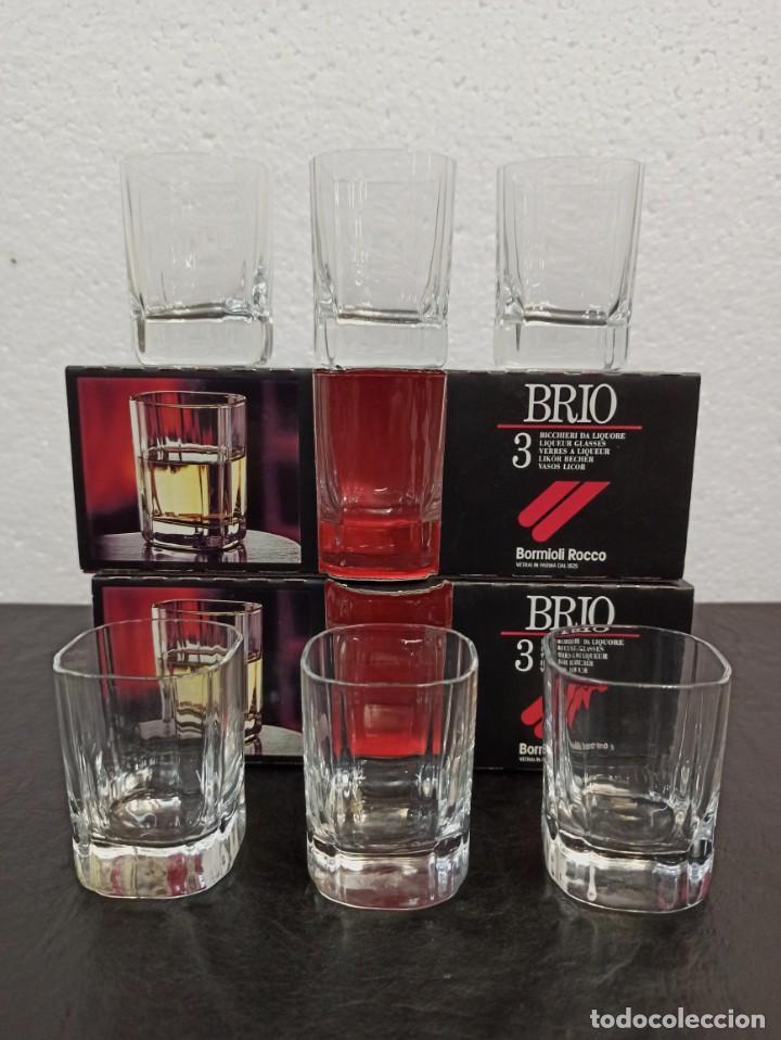 Antigüedades: 12 vasos de licor de cristal fino. C22 - Foto 5 - 216959918