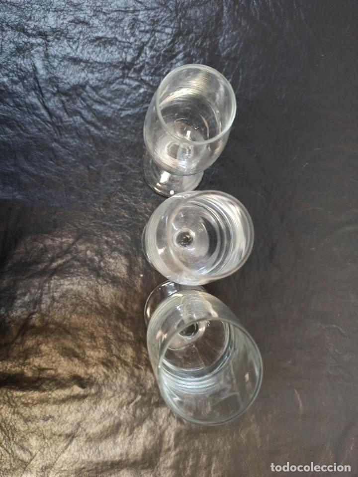 Antigüedades: 3 copas de fino distintas. C22 - Foto 3 - 216964131