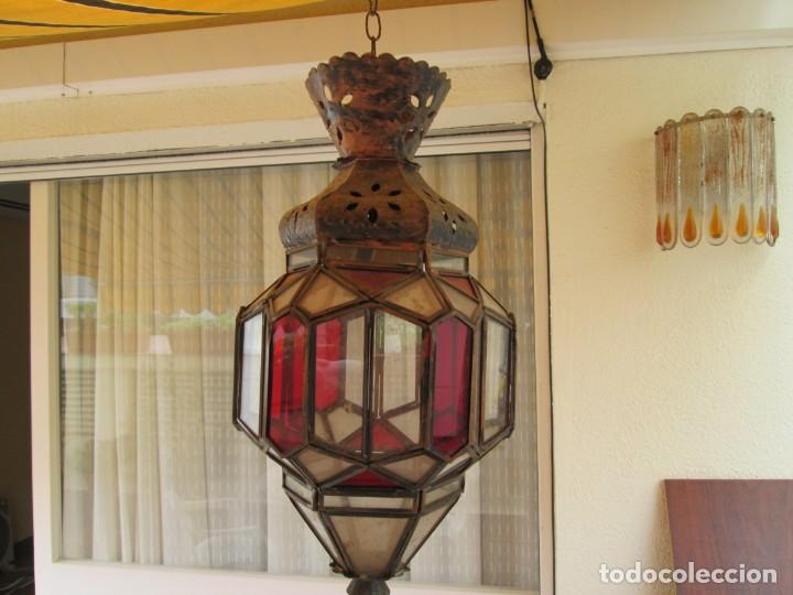 LAMPARA O FAROL MODERNISTA VEAN FOTOGRAFIAS Y DESCRIPCION (Antigüedades - Iluminación - Lámparas Antiguas)