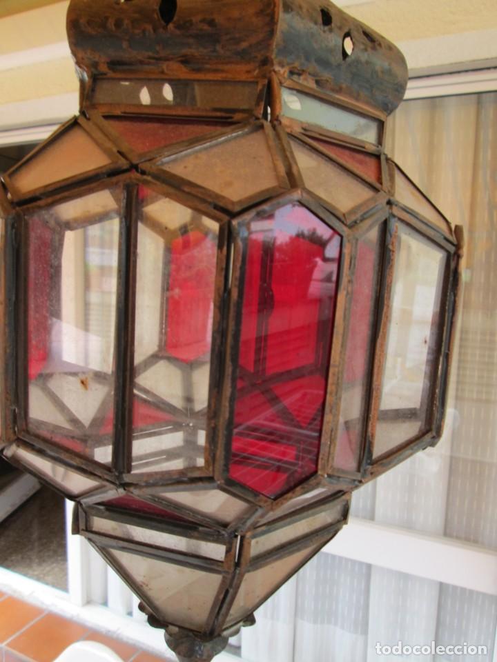 Antigüedades: LAMPARA O FAROL MODERNISTA VEAN FOTOGRAFIAS Y DESCRIPCION - Foto 2 - 216966977