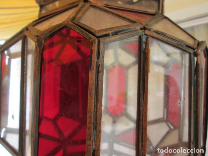 Antigüedades: LAMPARA O FAROL MODERNISTA VEAN FOTOGRAFIAS Y DESCRIPCION - Foto 4 - 216966977