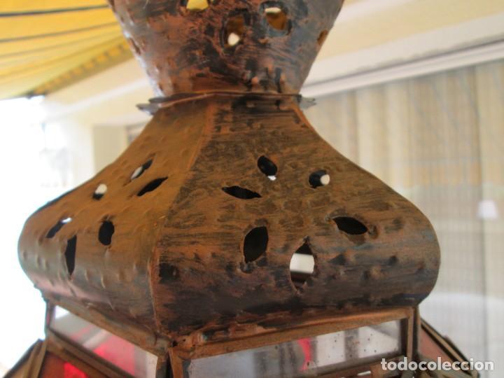 Antigüedades: LAMPARA O FAROL MODERNISTA VEAN FOTOGRAFIAS Y DESCRIPCION - Foto 5 - 216966977