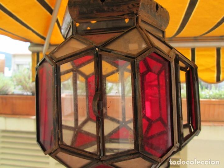 Antigüedades: LAMPARA O FAROL MODERNISTA VEAN FOTOGRAFIAS Y DESCRIPCION - Foto 8 - 216966977