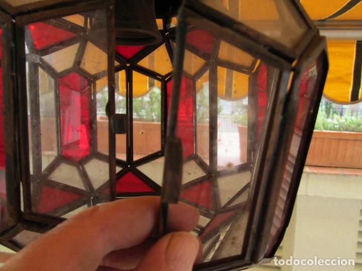 Antigüedades: LAMPARA O FAROL MODERNISTA VEAN FOTOGRAFIAS Y DESCRIPCION - Foto 9 - 216966977