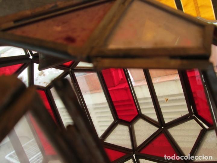 Antigüedades: LAMPARA O FAROL MODERNISTA VEAN FOTOGRAFIAS Y DESCRIPCION - Foto 10 - 216966977