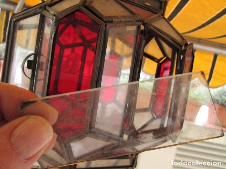 Antigüedades: LAMPARA O FAROL MODERNISTA VEAN FOTOGRAFIAS Y DESCRIPCION - Foto 11 - 216966977