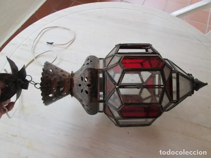 Antigüedades: LAMPARA O FAROL MODERNISTA VEAN FOTOGRAFIAS Y DESCRIPCION - Foto 13 - 216966977