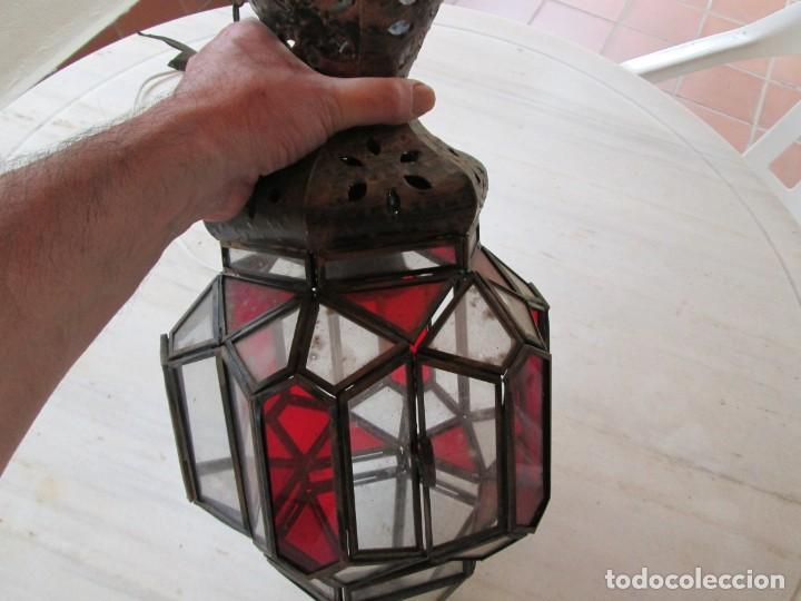 Antigüedades: LAMPARA O FAROL MODERNISTA VEAN FOTOGRAFIAS Y DESCRIPCION - Foto 14 - 216966977