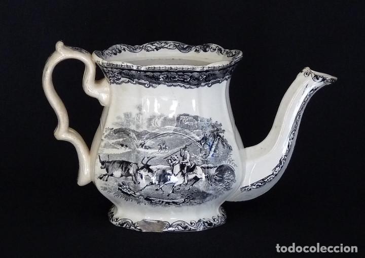 TETERA ESTAMPADA DE CERAMICA DE CARTAGENA (Antigüedades - Porcelanas y Cerámicas - Cartagena)