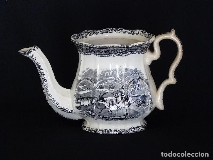 Antigüedades: Tetera estampada de ceramica de Cartagena - Foto 2 - 216967448