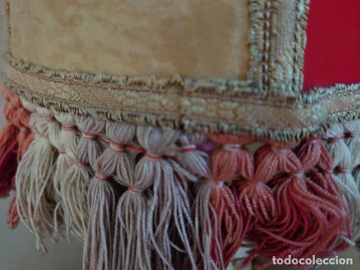 Antigüedades: ANTIGUA LÁMPARA SOBREMESA PIE DE PORCELANA - Foto 15 - 216990403