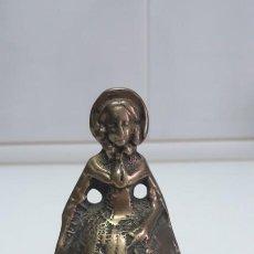 Antigüedades: ANTIGUA CAMPANILLA 12 CM DE ALTURA SEÑORA. Lote 217004187
