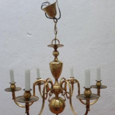 Antigüedades: LAMPARA HOLANDESA SEIS LUCES. Lote 217020001