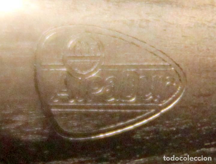Antigüedades: CENTRO DE MESA ALPACA + BAÑO PLATA - ALPADUR / SOLER CABOT, BARCELONA - 32x27 cm / 18 cm ALTURA - Foto 6 - 217057145