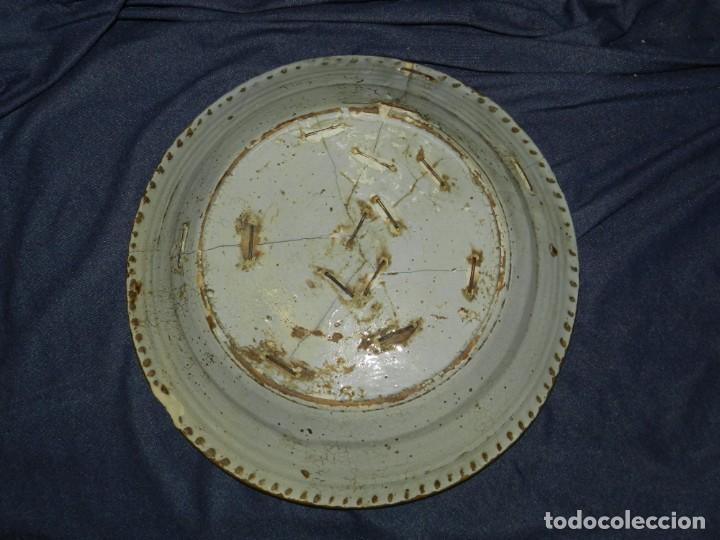 Antigüedades: (M) ANTIGUO PLATO DE TRIANA ( SEVILLA ) S.XVIII POLICROMADO LAÑADO DE EPOCA TEMAS FLORALES - Foto 6 - 217084720