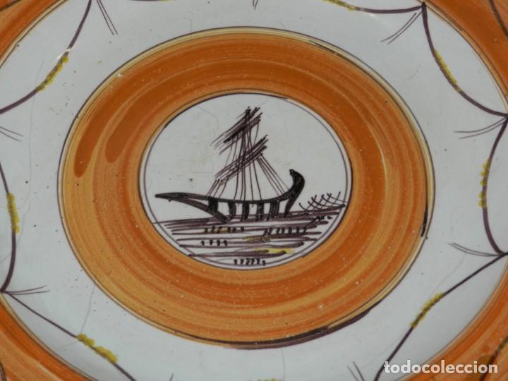 Antigüedades: (ML) PLATO ANTIGUO DE RIBESALBES TEMA NAVEGACION ( BARCO ) , 33 CM, SEÑALES DE USO NORMAL - Foto 2 - 217085146