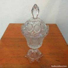 Antiquités: PRECIOSA ANTIGUA COPA DE CRISTAL CON TAPA.. Lote 217095023