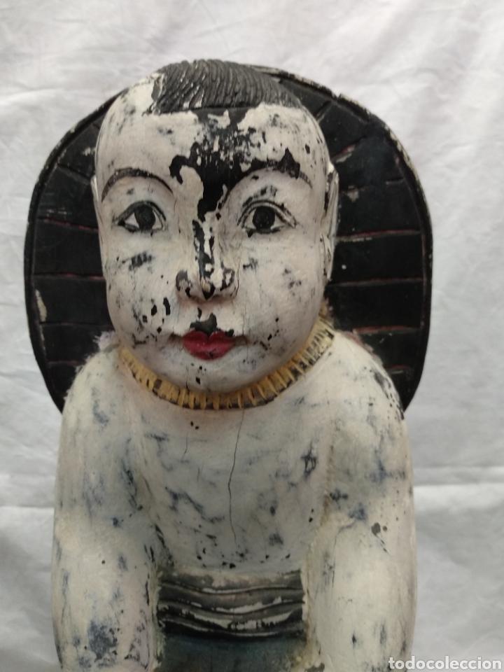 Antigüedades: Niño Buda talla asiática antigua siglo XVIII - Foto 4 - 217126007