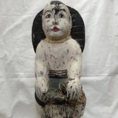 Antigüedades: NIÑO BUDA TALLA ASIÁTICA ANTIGUA SIGLO XVIII. Lote 217126007