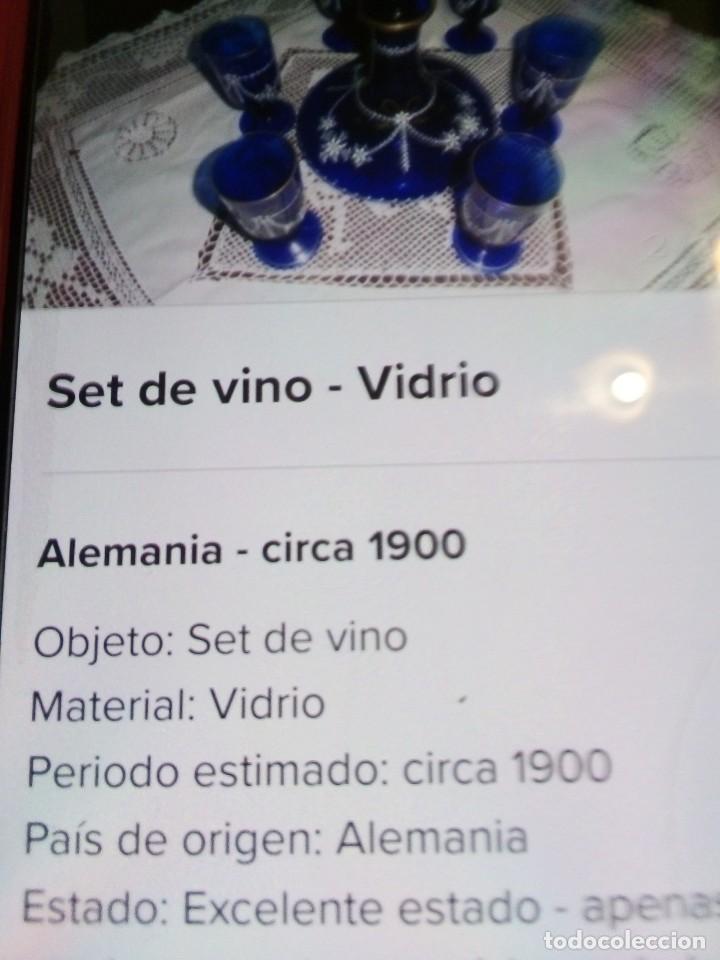 SET DE VINO, CON MÁS DE 100 AÑOS. DIBUJOS EN ORO (Antigüedades - Cristal y Vidrio - Baccarat )