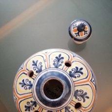 Antigüedades: TINTERO DE CERÁMICA DE PUENTE, SELLADO, ANTIGUO. Lote 217138552