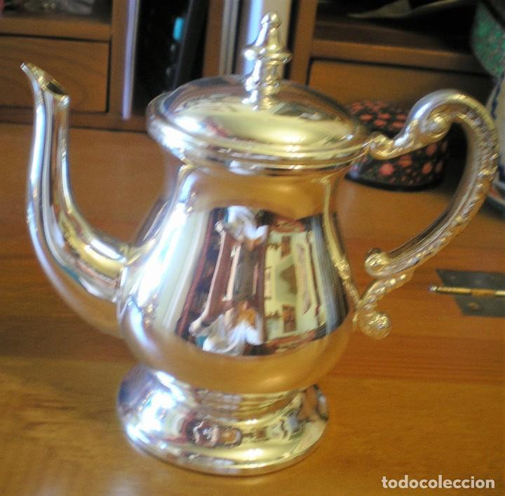 Antigüedades: EXCELENTE SERVICIO DE CAFÉ-TÉ Y BANDEJA EN ALPACA, A ESTRENAR - Foto 3 - 217157168