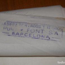 Antiguidades: PIEZA DE ALGONDON FINO PUIG FONT DE 5,2MTS X 75CM IDEAL INDUMENTARIA. Lote 217158387