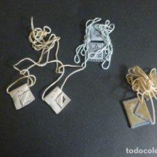 Antigüedades: 3 ANTIGUOS ESCAPULARIOS. Lote 217177681