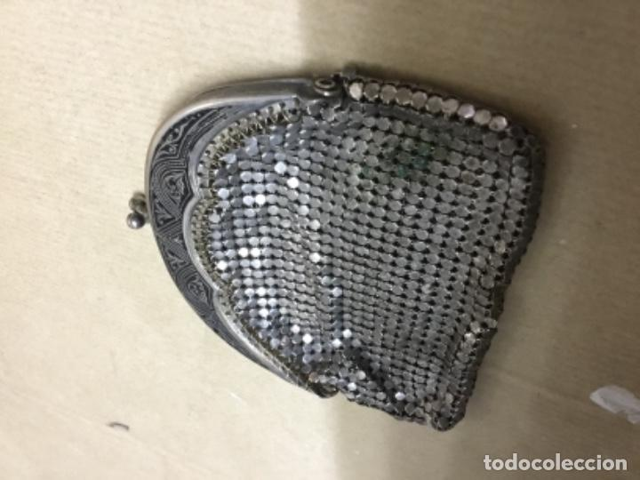 Antigüedades: Antiguo bolso monedero plata ? - Foto 6 - 217182498