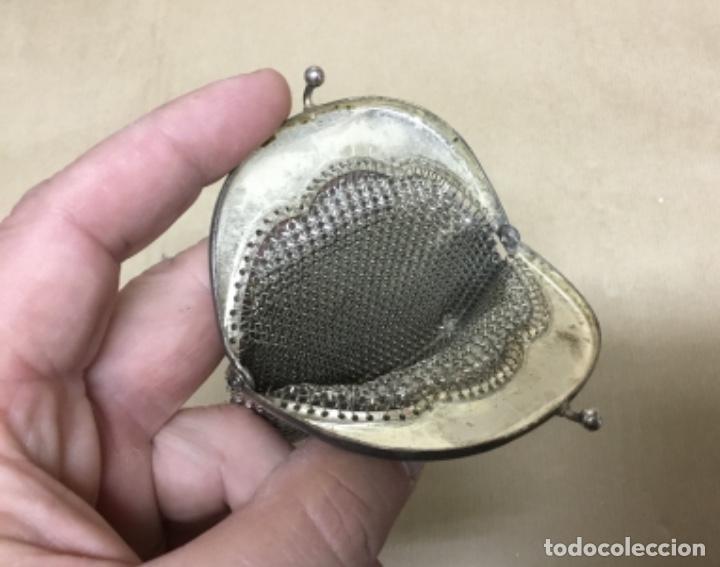 Antigüedades: Antiguo bolso monedero plata ? - Foto 8 - 217182498