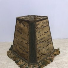 Antigüedades: TÚLIPA PARA LÁMPARA HECHA CON PARTITURAS DE MÚSICA DEL SIGLO XVI - XVII. Lote 217204313