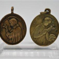 Antigüedades: LOTE DOS MEDALLAS ANTIGUAS SAN LUIS GONZAGA-INMACULADA S.XVIII-XIX. Lote 217206473