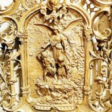 Antigüedades: ANGEL DE LA GUARDA, TALLA PARED. Lote 217212518